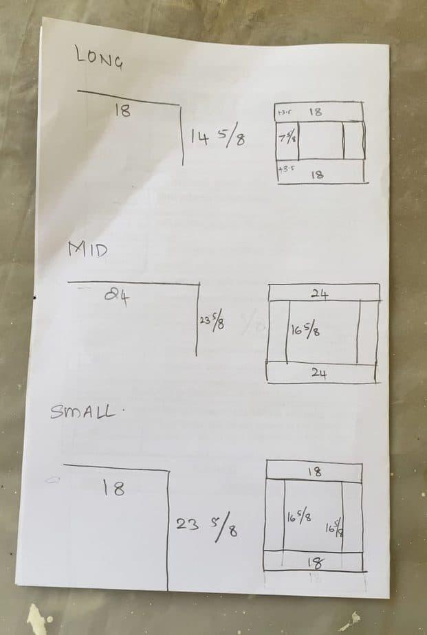 Cabinet base measurements