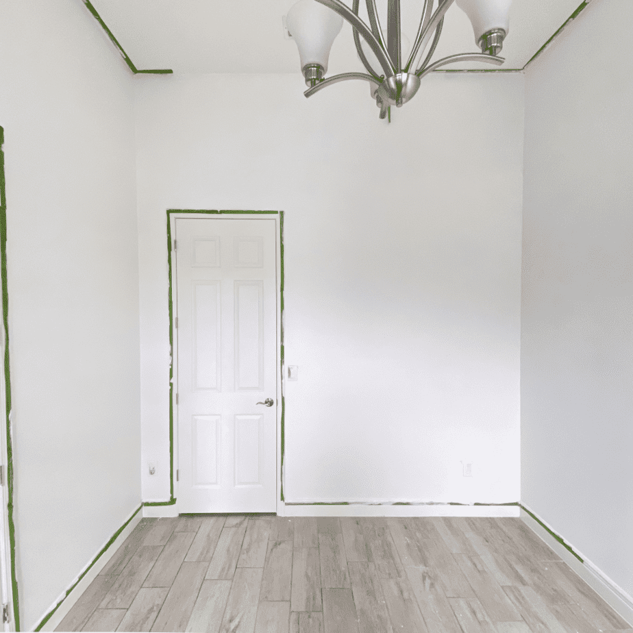 Home office painted white