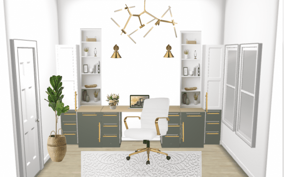 MODERN HOME OFFICE PLAN and DESIGN – ONE ROOM CHALLENGE – WEEK 1 (Spring 2021)