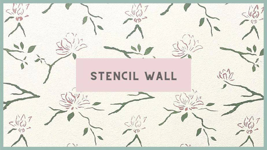 BEAUTIFUL HOME OFFICE – STENCIL WALL – ONE ROOM CHALLENGE – WEEK 6 and 7 (Spring 2021)