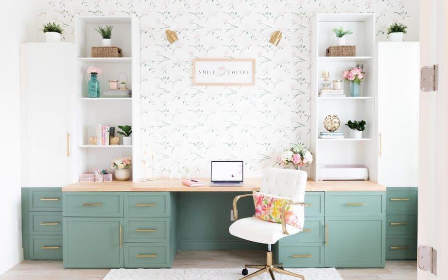 MODERN HOME OFFICE – FINAL REVEAL – ONE ROOM CHALLENGE – WEEK 8 (Spring 2021)