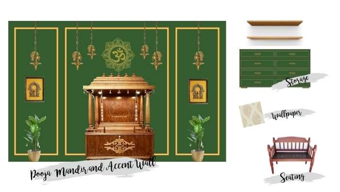 BEAUTIFUL POOJA ROOM PLAN AND DESIGN – ONE ROOM CHALLENGE – WEEK 1 (Fall 2021)